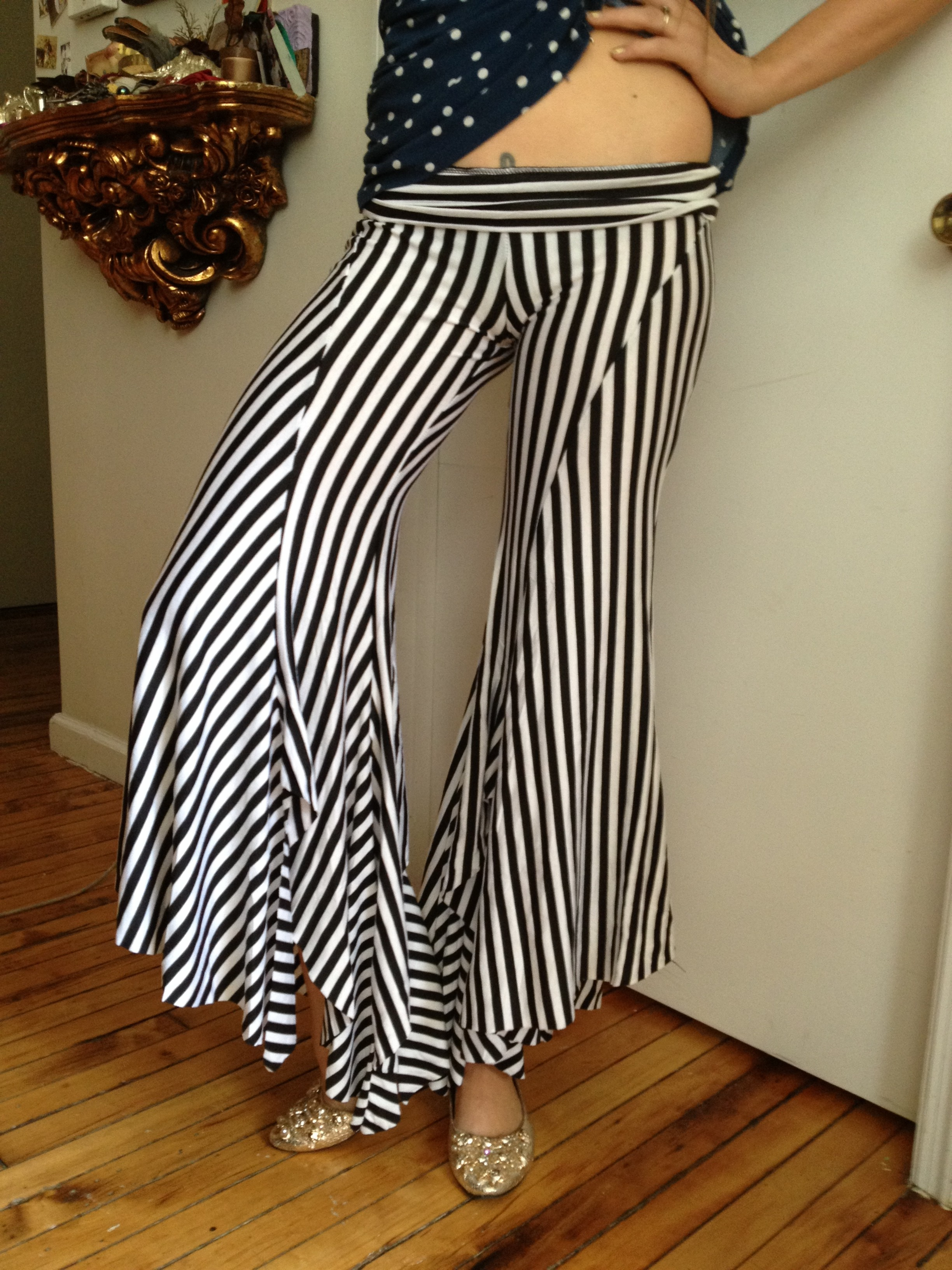 Black and White Circus Pants